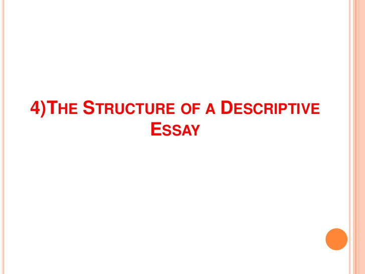 I need help writing a descriptive essay
