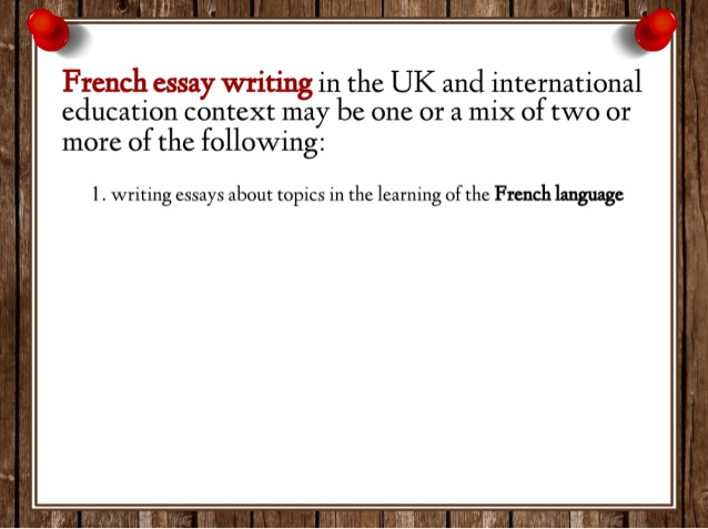 french extended essay help