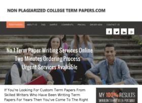 non plagiarized term papers com review We help you write and submit top notch non plagiarized term papers avoid the penalties of submitting plagiarized term papers by following these guidelines or knowing where to buy non plagiarized term papers online.
