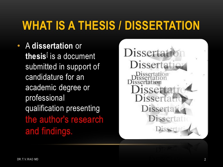 Thesis And Dissertation