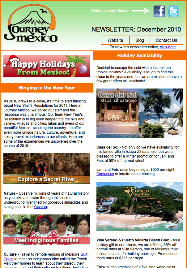 Journey Mexico Newsletter: December