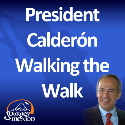 President Calderon Gives Royal Tour