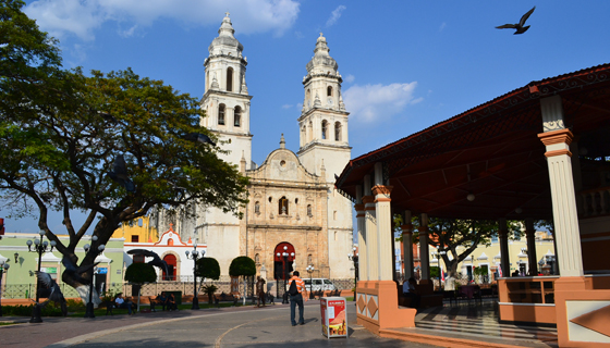 Town square in Campeche