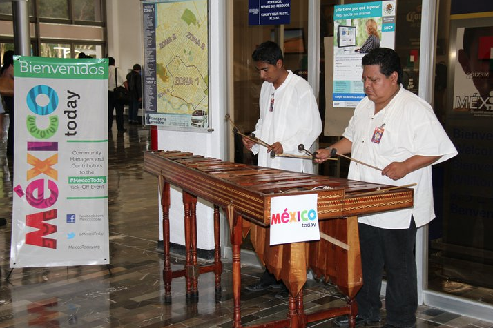 playing the marimba in oaxaca