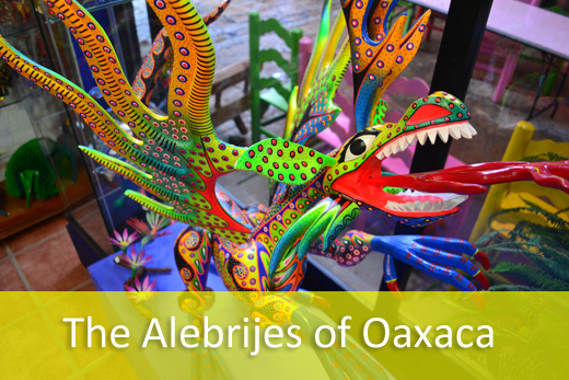dragon alebrije in oaxaca