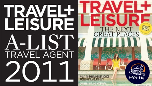 Journey Mexico in 2011 Travel + Leisure A-list