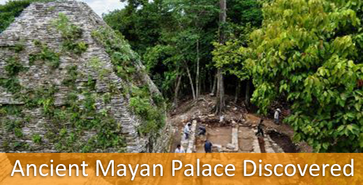 ancient mayan palace in chiapas, mexico