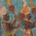 Paintings or frescos in Bonampak Chiapas