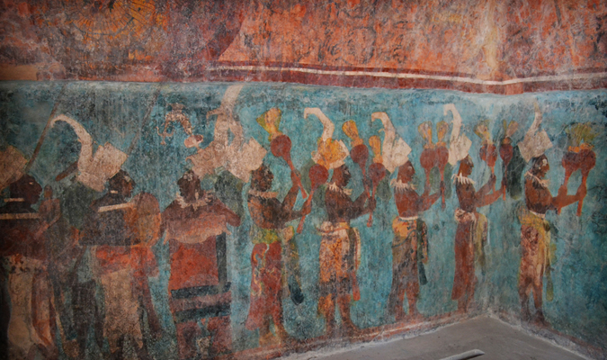 Bonampak Paintings in Mexico