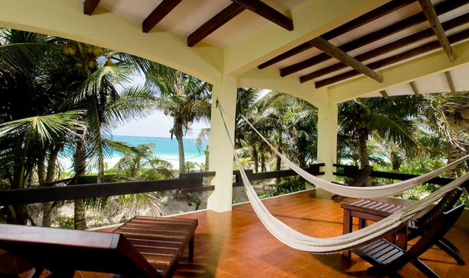 Beachfront villa in Tulum