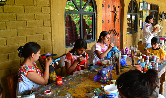 Oaxaca Family Crafts Culture