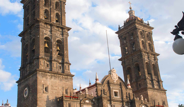 Historic Center in Puebla - The Cathedral