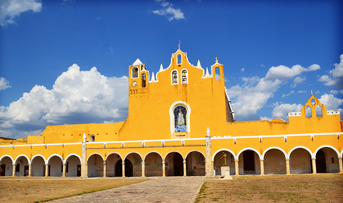 Izamal Yellow Building Culture