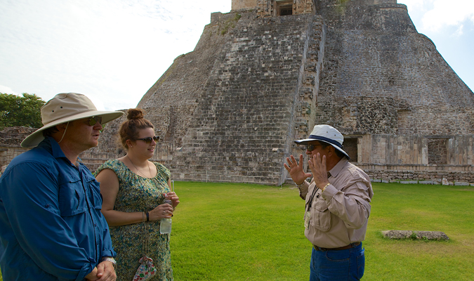 Private guide at Uxmal