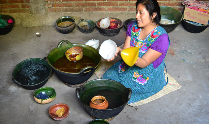 Candle making in Mexico