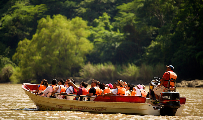 Boat in Sumidero Canyon
