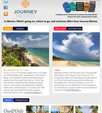 Newsletter design travel Mexico