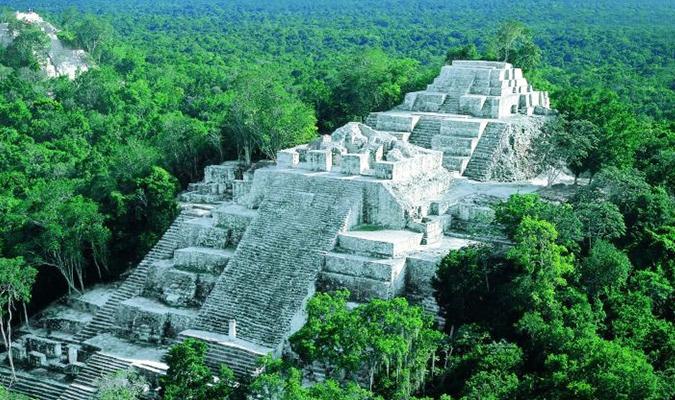 Calakmul ruins in Campeche
