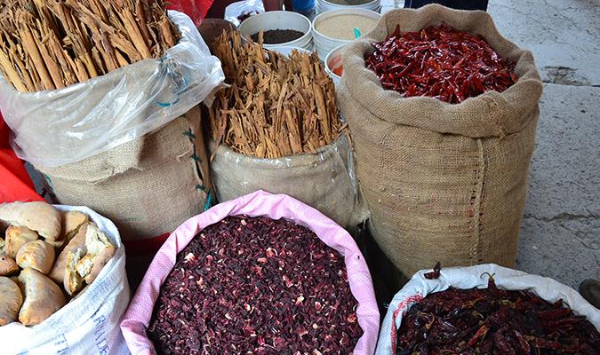 Oaxaca Local Market Spices