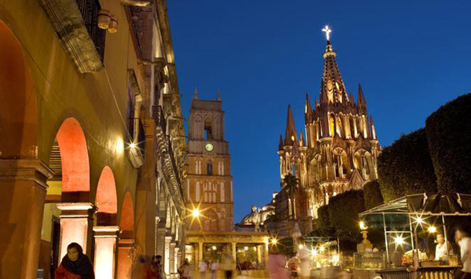 Nighttime of San Miguel de Allende Mexico