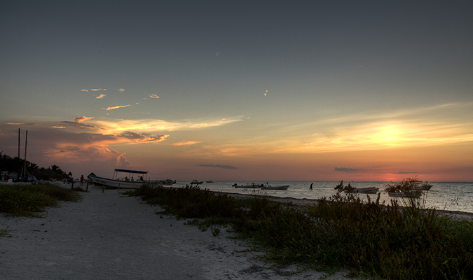 Beach Sunset Isla Holbox