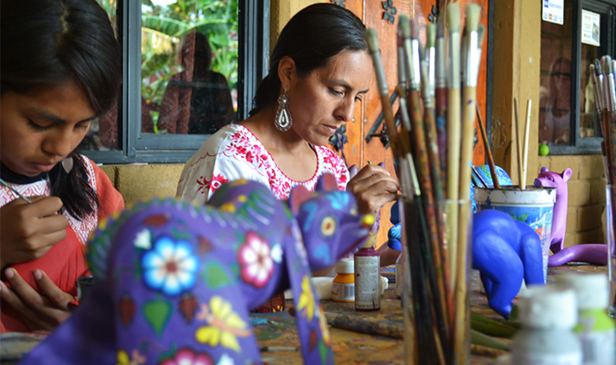 Oaxaca Native Crafts Woman Alebrije
