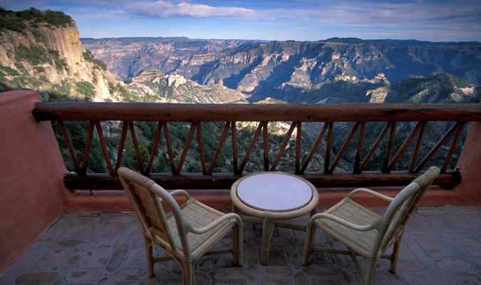 Copper Canyon hotel with a view