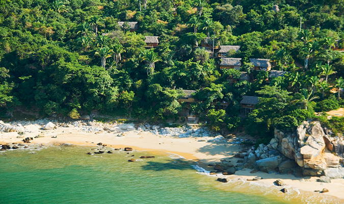 Xinalani's beach, one of the best beaches in Puerto Vallarta