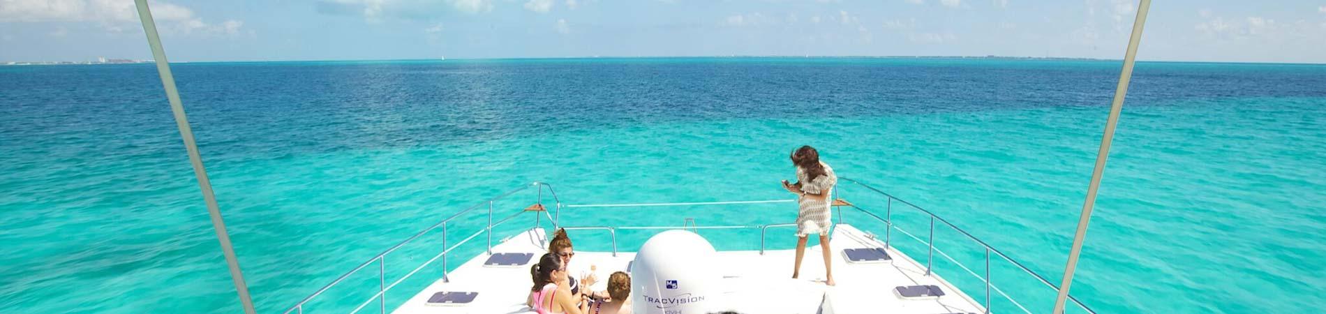 Private Catamaran To Isla Mujeres Journey Mexico