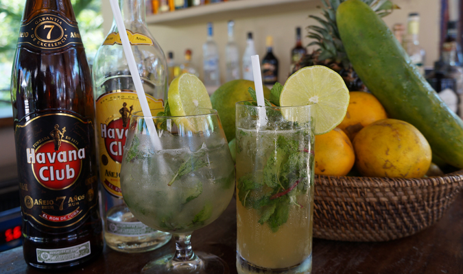 Signature Cuban Mojito at Casa Sandra in Isla Holbox