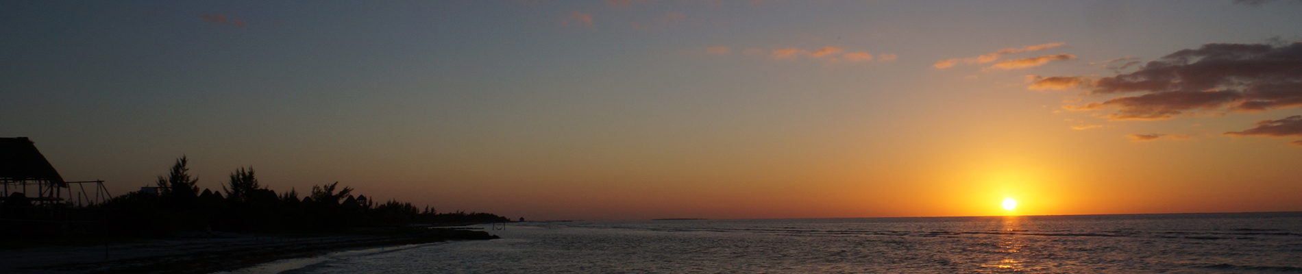 Sunset in isla Holbox