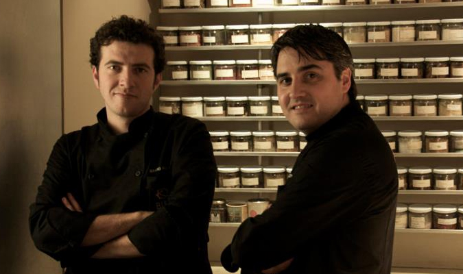Chef Gerard Bellver y Chef Mikel Alonso.