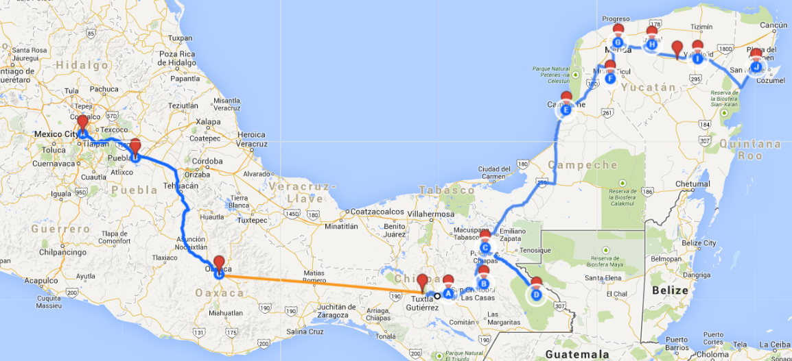 MexicoJourney Through Southern Mexico and the Yucatan Peninsula ...
