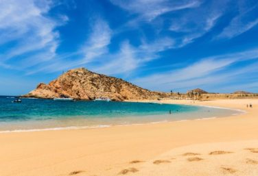 Santa Maria Beach, one of the swimmable beaches in Los Cabos