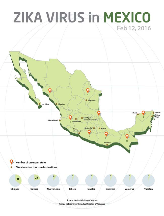 zika mexico map