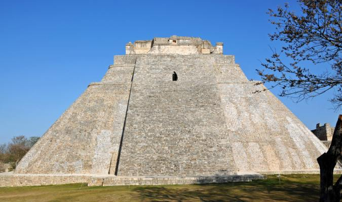 The Pyramid of the Magician in Yucatan