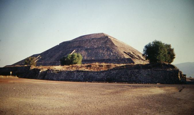 The Pyramid of the Sun, also in Teotihaucan