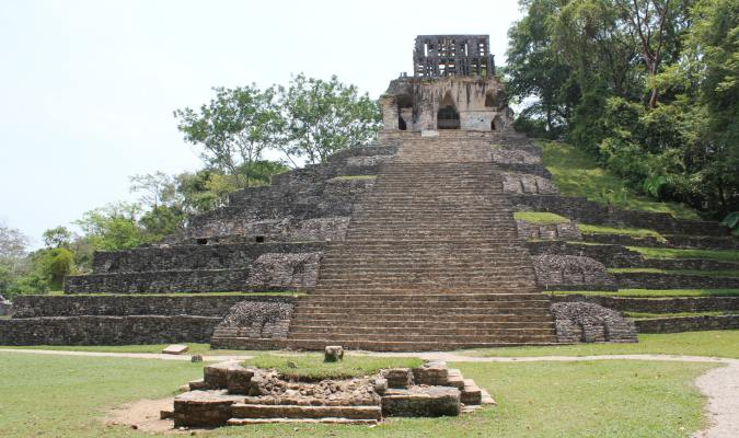 The Temple of the Cross, a stepped pyramid in Mexico