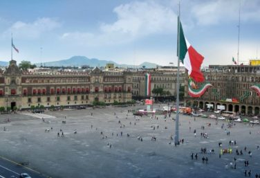 The Zocalo in Mexico City