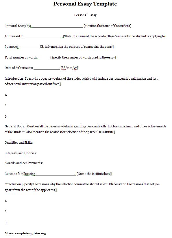 bio questionnaire template - writing a personal essay great college essay
