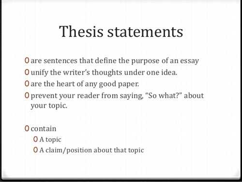 A Great Thesis Statement